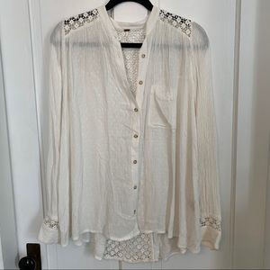 Free People oversized white top size small GUC